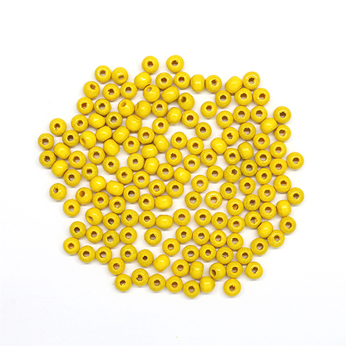 61651003 Бусины деревянные, желтый, 4 мм, упак./155 шт, Glorex