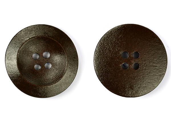 Пуговицы деревянные TBY BT.WD.021 цв.коричневый 40L-25мм, 4 прокола, 20 шт, BTWD021