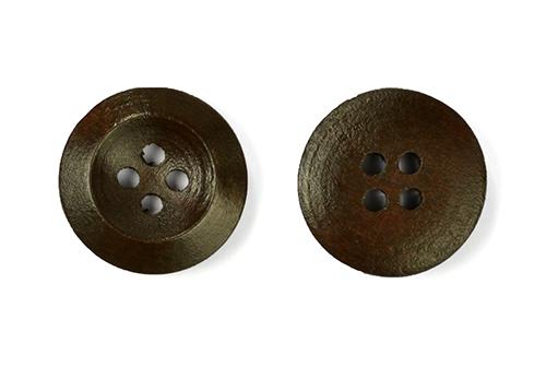 Пуговицы деревянные TBY BT.WD.024 цв.коричневый 28L-18мм, 4 прокола, 20 шт, BTWD024