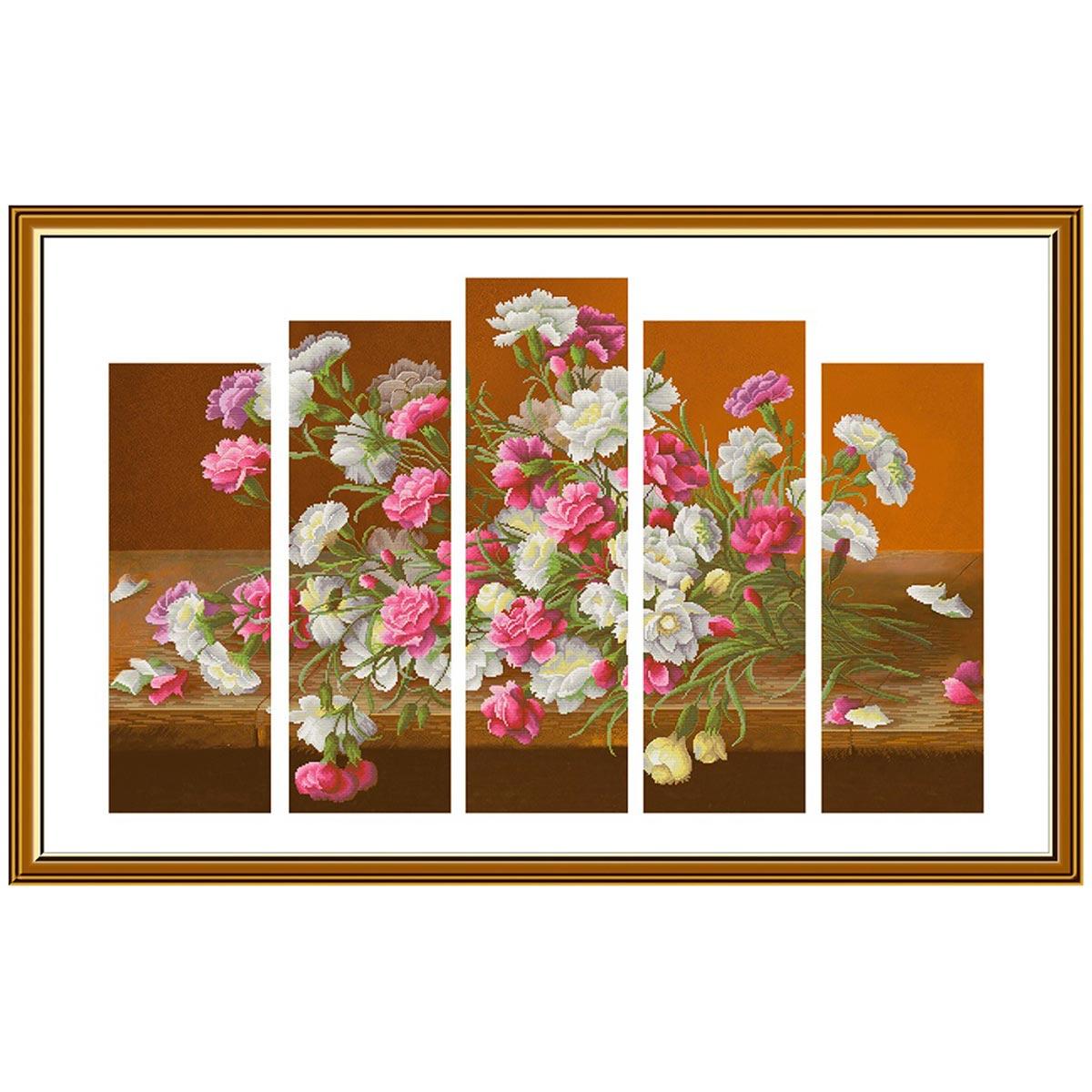 СР6241 Набор для вышивания 'Букет Шабо'75 x50 см