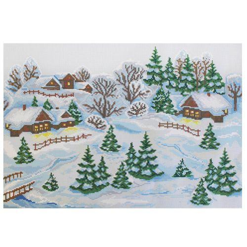 РК-302 Канва с рисунком Hobby&Pro 'Зимушка-зима' 40*50см