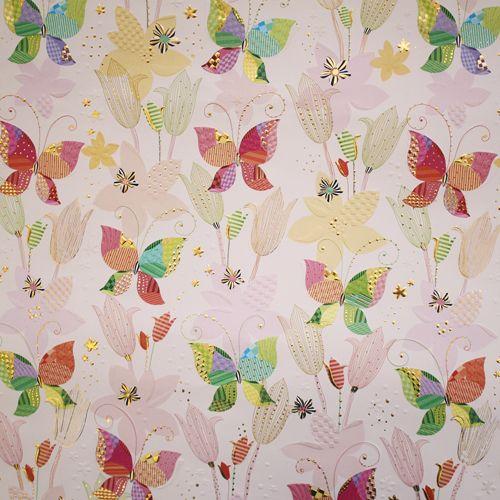 CFWTU5677 Бумага для скрапбукинга 'Бабочки' (коллекция Turnowsky) лист 50х70см Renkalik