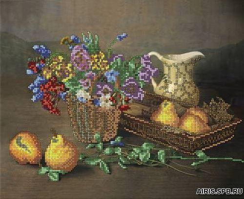70035 Канва с рисунком Gluriya 'Виола и груши' 32*26 см