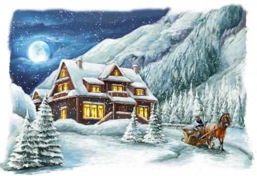 1845 Набор для вышивания Матренин Посад 'Морозный вечер' 37*49см