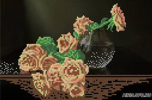 70037 Канва с рисунком Gluriya 'Розы' 25*17 см