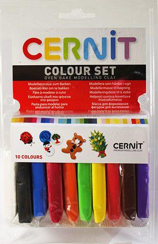 CE0900010K01 Набор пластики полимерной запекаемой 10шт.х30 гр. Cernit