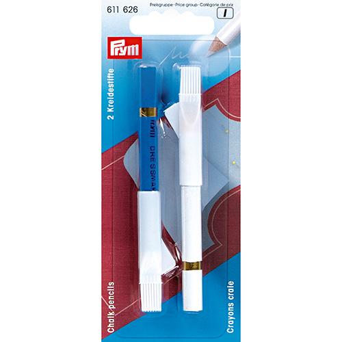 611626 Меловые карандаши 11см белый/синий Prym