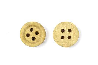 Пуговицы деревянные TBY BT.WD.063 цв.бежевый 18L-11мм, 4 прокола, 20 шт, BTWD063