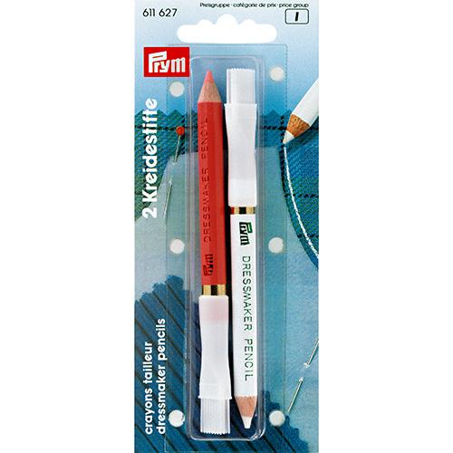 611627 Меловые карандаши 11 см белый/розовый Prym