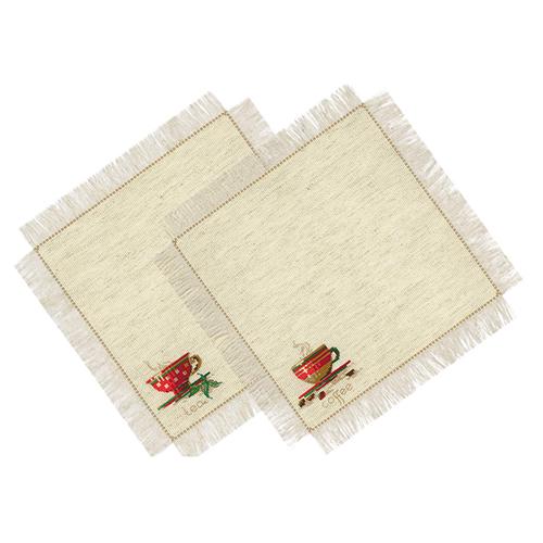 1640 Набор для вышивания Риолис 'Салфетки 'Чай и кофе' 40*40см