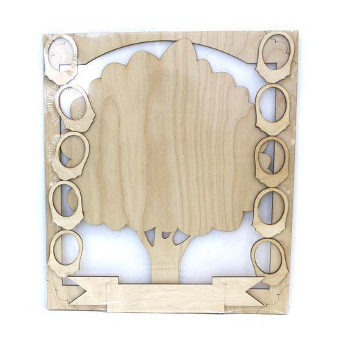 L-561 Деревянная заготовка 'Семейное дерево' на 10 рамок 35*36см