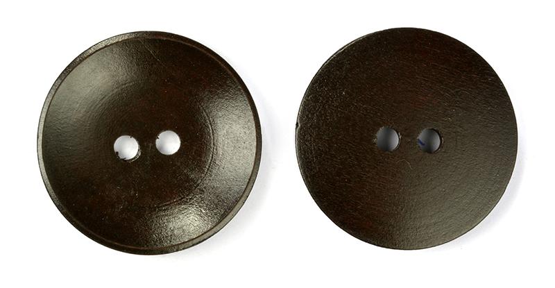 Пуговицы деревянные TBY BT.WD.241 цв.коричневый 56L-36мм, 2 прокола, 20 шт, BTWD241