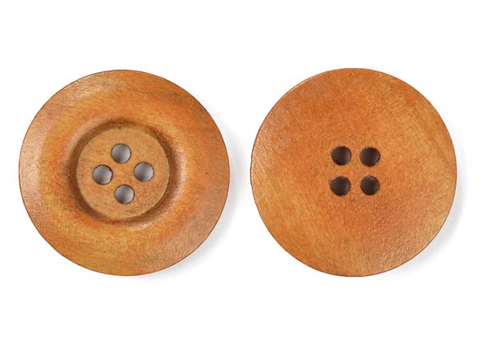 Пуговицы деревянные TBY BT.WD.263 цв.св.коричневый 48L-32мм, 4 прокола, 20 шт, BTWD263