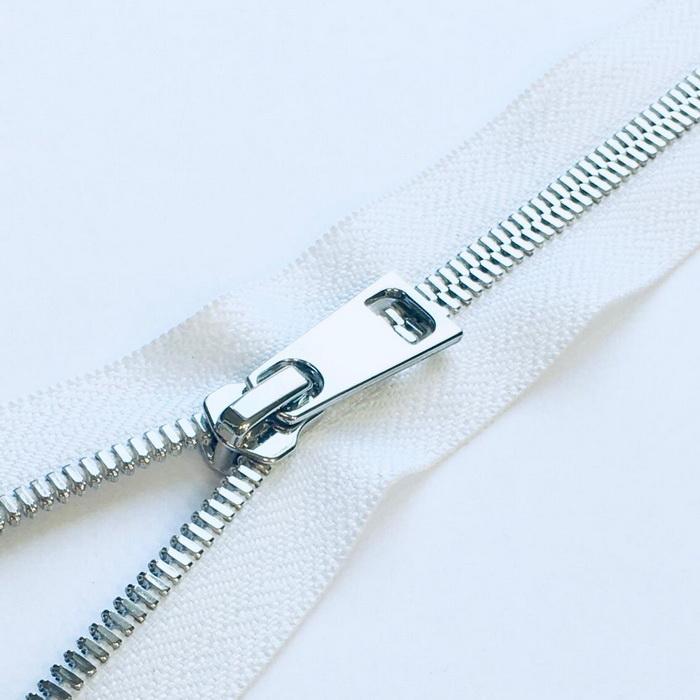 Молния металл №5СТ никель н/р 35см D501 белый, 2135001350064
