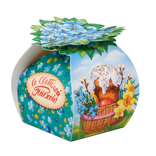 2808841 Коробочка подарочная для яйца 'Кулич', 26,7*19,2 см