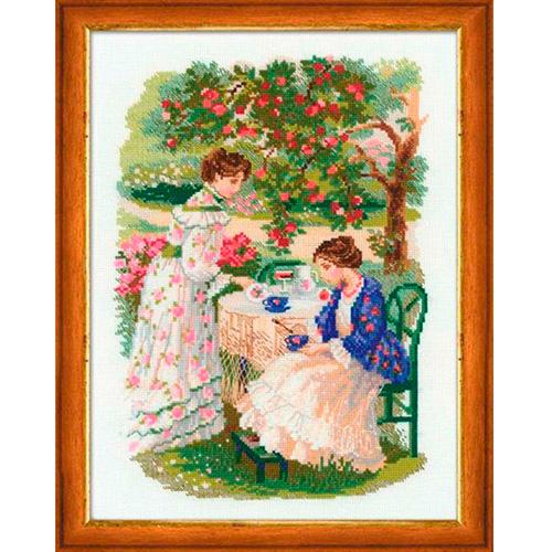 1140 Набор для вышивания Riolis 'Русская усадьба. Чай под яблоней', 30*40 см