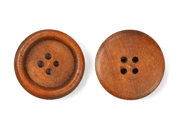 Пуговицы деревянные TBY BT.WD.271 цв.св.коричневый 36L-23мм, 4 прокола, 20 шт, BTWD271