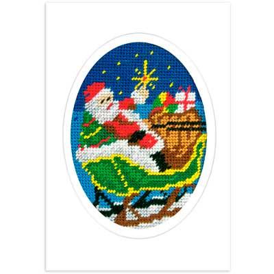 1582 ORCHIDEA Набор для вышивания открытка 10,5х15 см