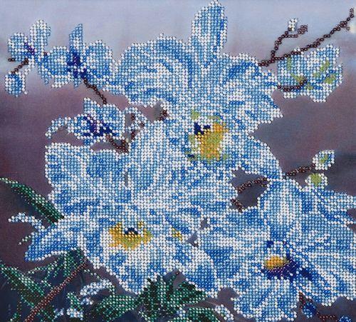 БН-3048 Набор для вышивания бисером Hobby&Pro 'Белые орхидеи', 23*25 см