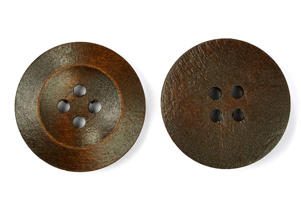 Пуговицы деревянные TBY BT.WD.616 цв.т.коричневый 48L-32мм, 4 прокола, 20 шт, BTWD616