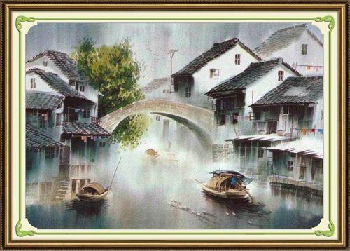 51167 Картина со стразами 5D 'В тумане', 76x55см
