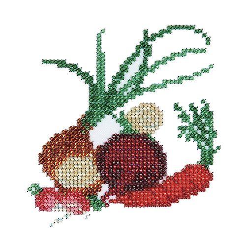 Б-0014 Набор для вышивания бисером 'Бисеринка' 'Овощи', 12*11 см