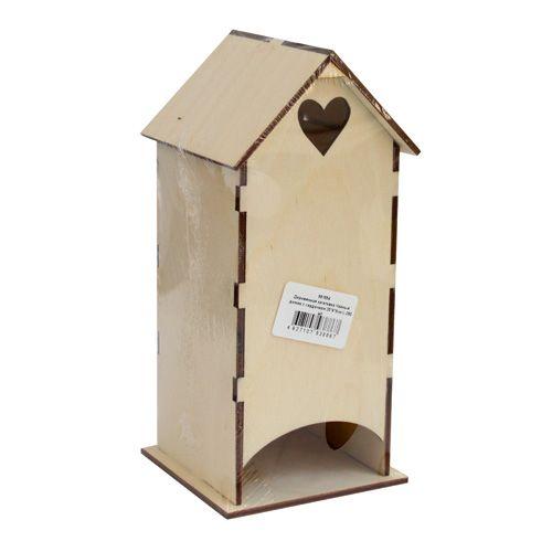 L-260 Деревянная заготовка 'Чайный домик c сердечком', 20*9*9 см, 'Астра'
