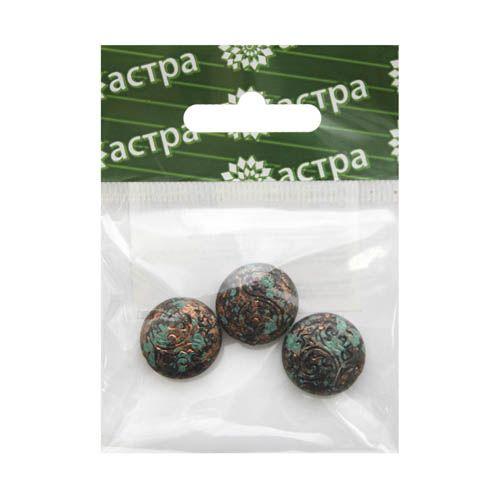 3695 Бусины декоративные, 18*6 мм, упак./3 шт., 'Астра'