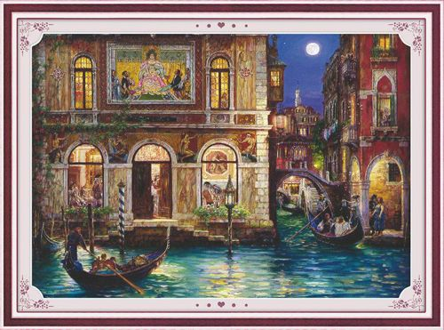 51192 Картина со стразами 5D 'Венеция', 70x57см