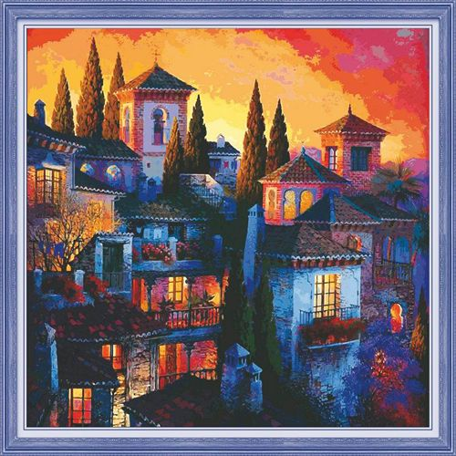 51229 Картина со стразами 5D 'Вечерний город', 65x65см