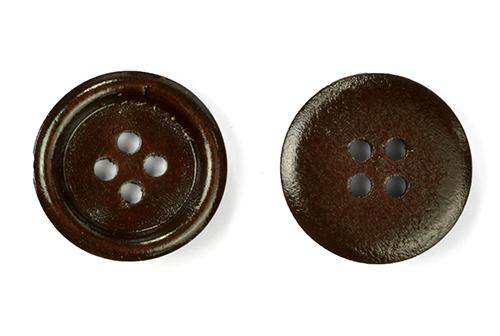 Пуговицы деревянные TBY BT.WD.687 цв.коричневый 32L-20мм, 4 прокола, 20 шт, BTWD687