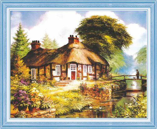 51240 Картина со стразами 5D 'Мостик к дому', 80x67см