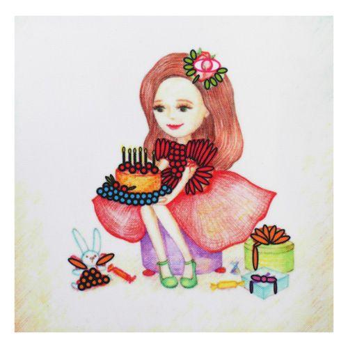 ВЛДС0003 Набор для вышивания лентами Woman-Hobby 'Серия Девочки №3', 13,5*13,5 см
