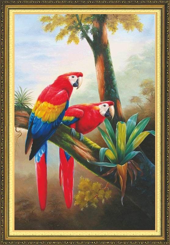 51246 Картина со стразами 5D 'Два попугая', 54x75см