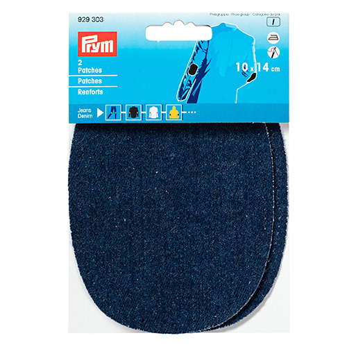 929303 Заплатки термоклеевые джинсовые 10*14см, 2шт, темно-синий цв. Prym