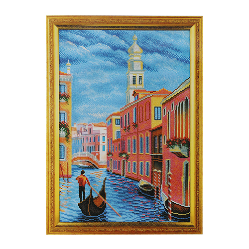 В269 Набор для вышивания бисером Кроше 'Колокольня Сан Марко.Венеция' 26х38см