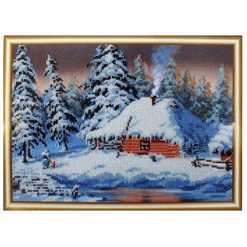 БН-3126 Набор для вышивания бисером Hobby&Pro 'Зима', 35*25 см