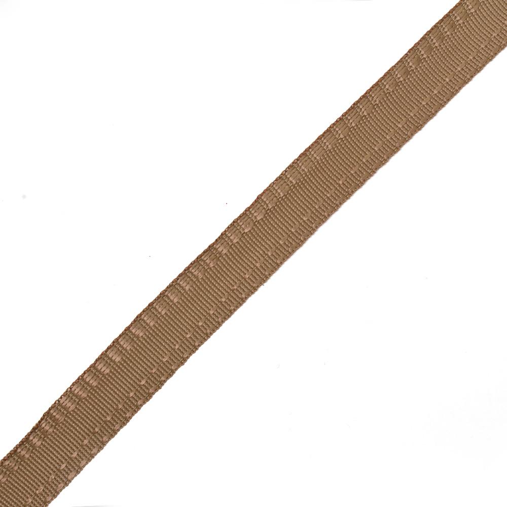 Тесьма брючная (полиэфирная) арт.4316 шир.15мм цв.коричневый уп.50м А, Ф4316КОРИЧ50