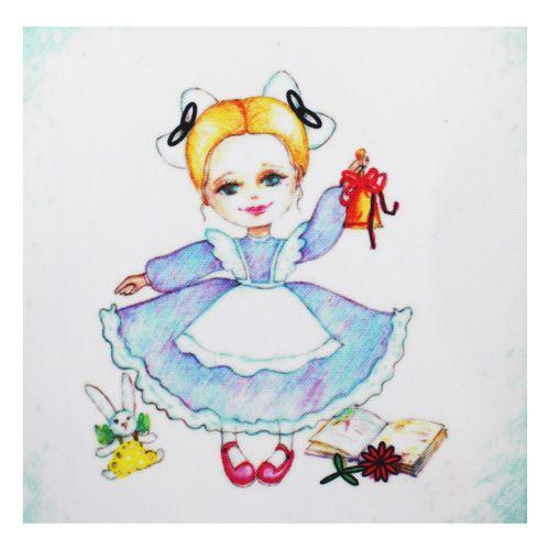 ВЛДС0009 Набор для вышивания лентами Woman-Hobby 'Серия Девочки №9', 13,5*13,5 см