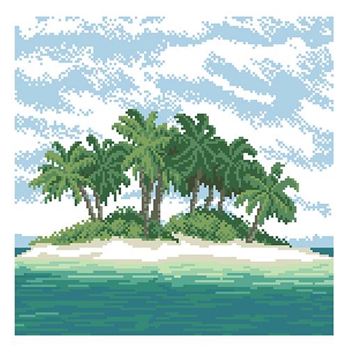 Набор для вышивания 'Остров' 35*35 см