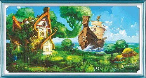 51277 Картина со стразами 5D 'В гостях у сказки', 95x55см