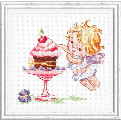 35-22 Набор для вышивания Чудесная игла 'Люблю сладенькое!' 13*12 см