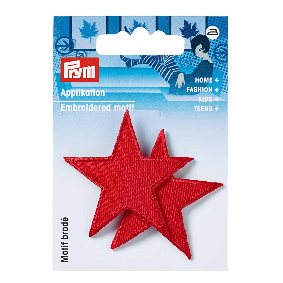 923152 Термоаппликация Звезды красный цв. 2 шт. Prym