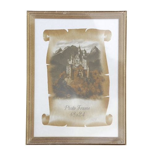 3N78 Рамка деревянная со стеклом, орех, 18*24/56