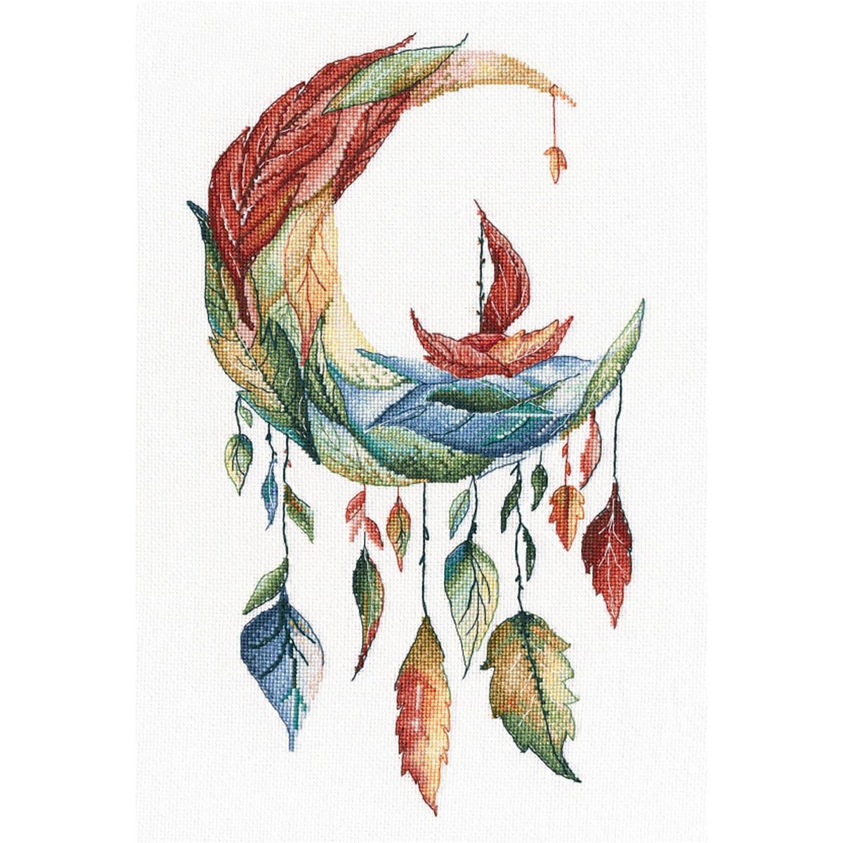 1357 Набор для вышивания ОВЕН 'Осенние сны'20*34 см