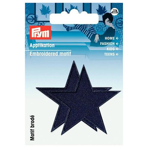 923155 Термоаппликация Звезды синий,темн.цв. 2шт. Prym