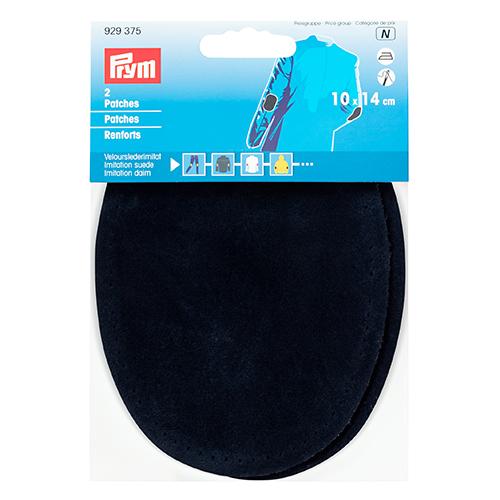 929375 Заплатки иск.замша 10*14см, 2шт, т.синий цв. Prym
