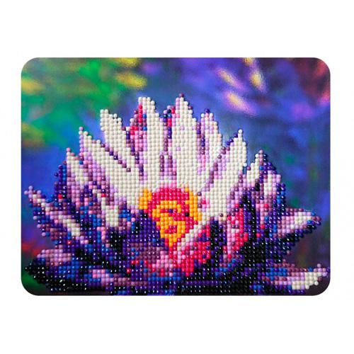M007 Алмазная картина Колор Кит 'Сияние лотоса '17*21см