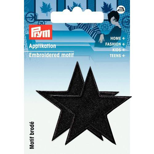 923156 Термоаппликация Звезды черный цв. 2 шт. Prym