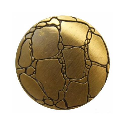 69607 Кнопка 5/28 лат.мет 'каменная кладка'